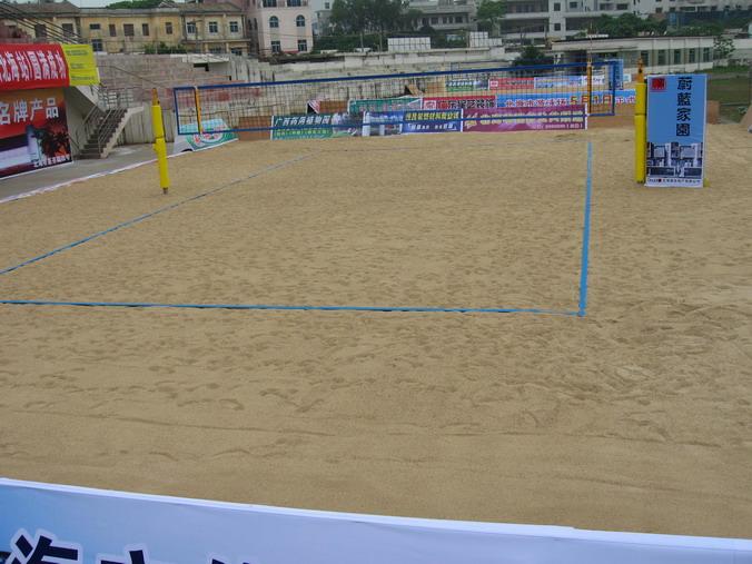 2006年全国女子沙滩排球比赛4月20日在广西北海市体育场开高清图片